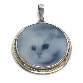 14KY Cat Cameo Pendant
