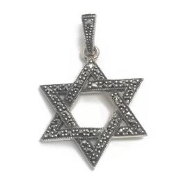 Sterling Marcasite Star of David