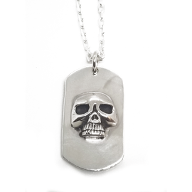Sterling Silver Sisterhood of the Skull Dogtag