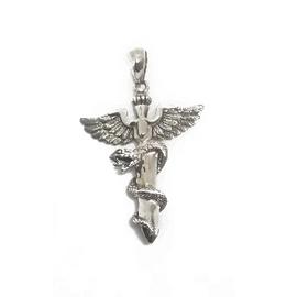 Sterling Silver Winged Snake Pendant
