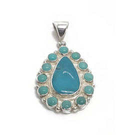 Sterling Silver SB Turquoise Pendant