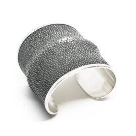 Sterling Silver Grey Stingray Cuff