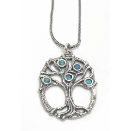 Sterling Silver Tree of Life wOpals