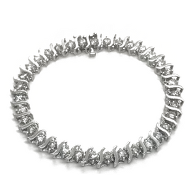 14KW 4.2ct Diamond Tennis Bracelet