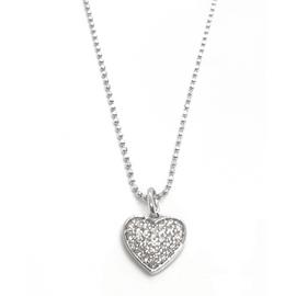 14KW Diamond Heart Pendant