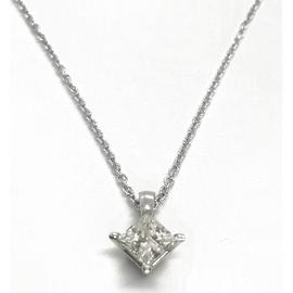 14KW Diamond Solitaire Pendant