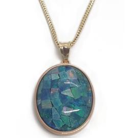 14KR Mosaic Opal Pendant