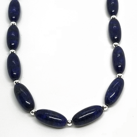 Sterling Silver and Lapis Necklace