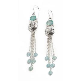 Sterling Silver Chalcedony Dangle Earrings