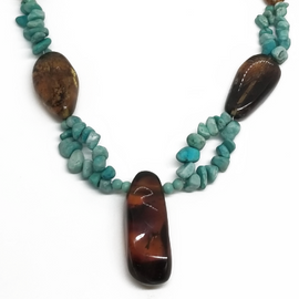 Sterling Silver Chiapas Amber w/Turquoise