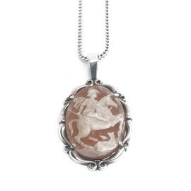 Sterling Silver King George Cameo