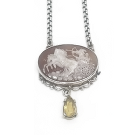 Sterling Silver Roman Soldier with Citrine