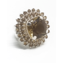 Sterling Silver Citrine Stone Ring