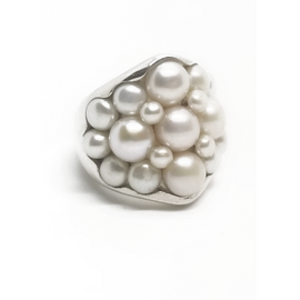 Sterling Silver Multi Mabe Pearl Ring