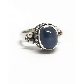 Sterling Silver Star Sapphire Ring