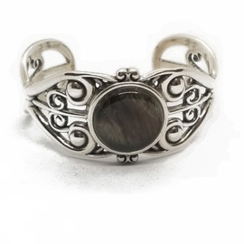 Sterling Silver Labradorite Cuff