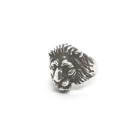 Sterling Silver Small Lions Head Ring