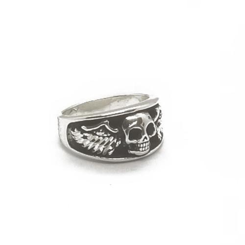 Sterling Silver Winged Skull Ring