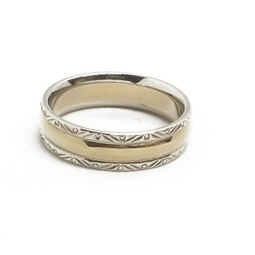14K Two Tone Band