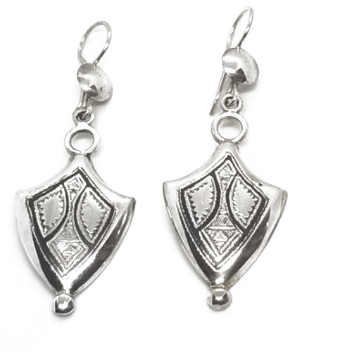 Sterling Hand Etched Moussa Albaka Earrings