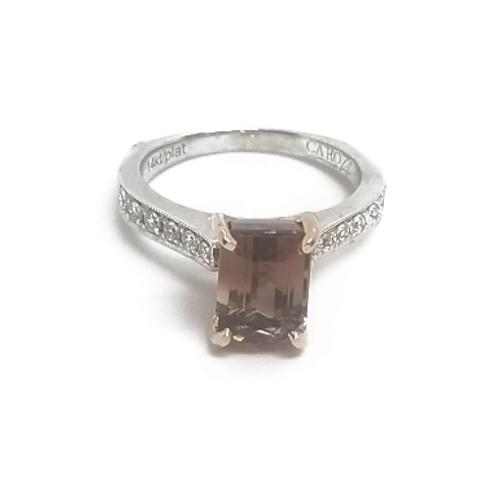 14KW Tourmaline and Diamond Ring