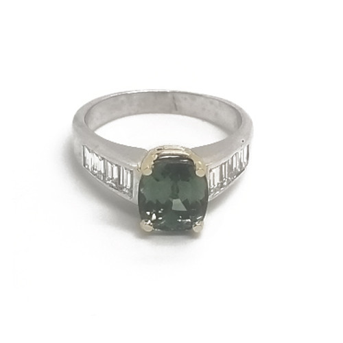 14KW&Y Tourmaline and Diamond Ring