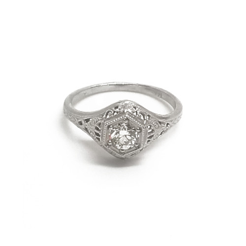 "14KW ""Antique"" Style Diamond Ring"