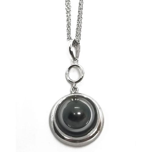 Sterling Silver Black Pearl Pendant