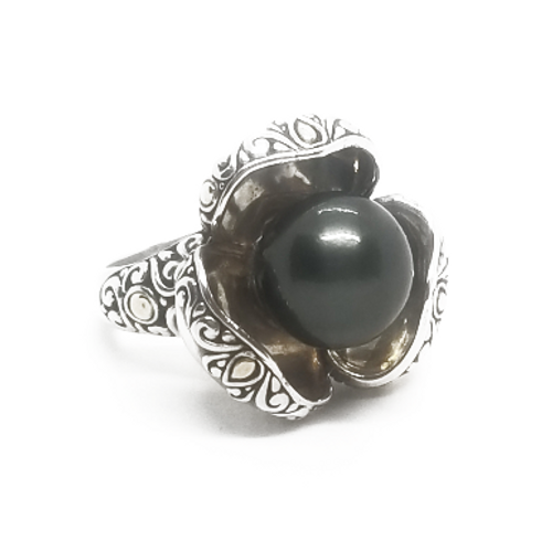 Sterling Silver and 18KY Pearl Ring