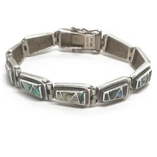 Sterling Silver Abalone Bracelet