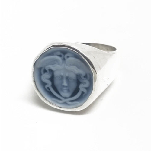 Sterling Silver Hermes Cameo
