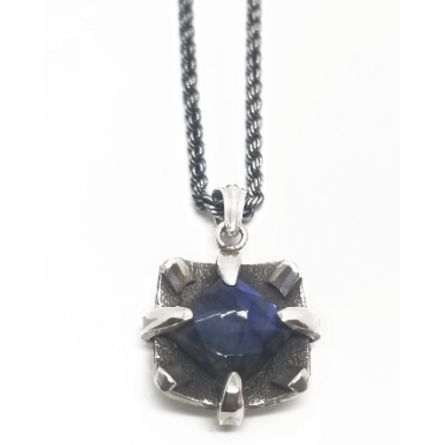 Sterling Silver Labradorite Stone Pendant