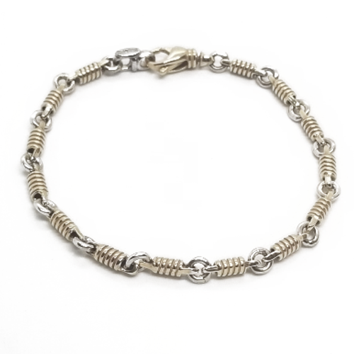 14KY Two Tone Braccio Bracelet