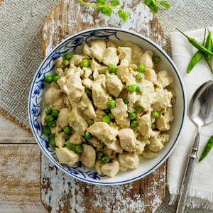 Thai Green Chicken Curry Family Size High Angle