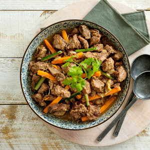 Beef Stir Fry Family Size High Angle