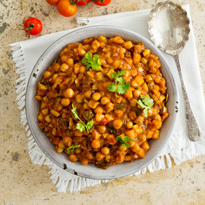 Moroccan Chickpea Curry Family Size High Angle