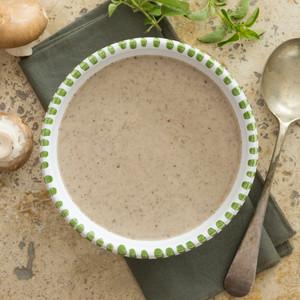 Creamy Mushroom Soup Close Up