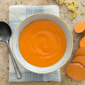 Sweet Potato And Ginger Soup Close Up