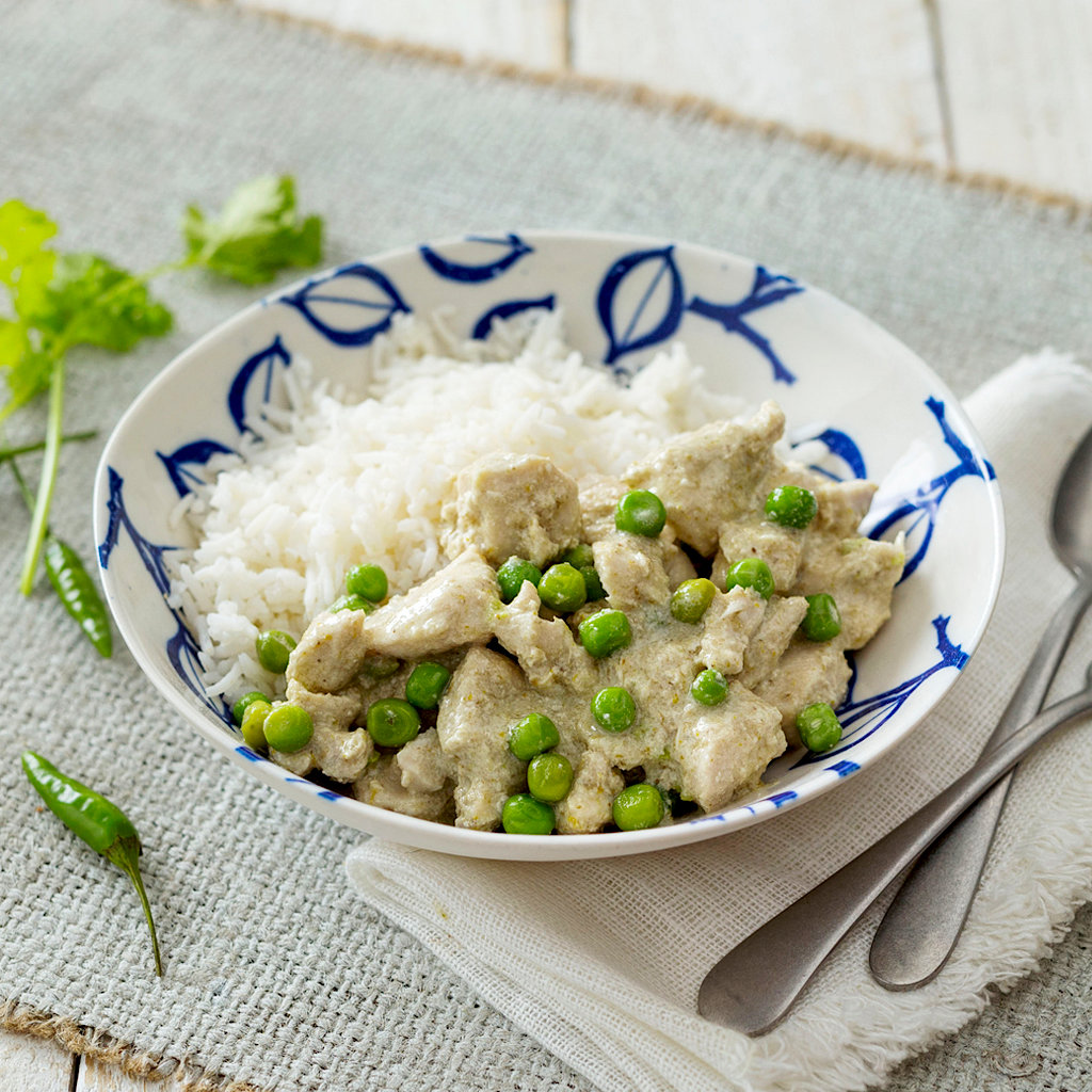 Thai Green Chicken Curry With Basmati Rice Eye Level