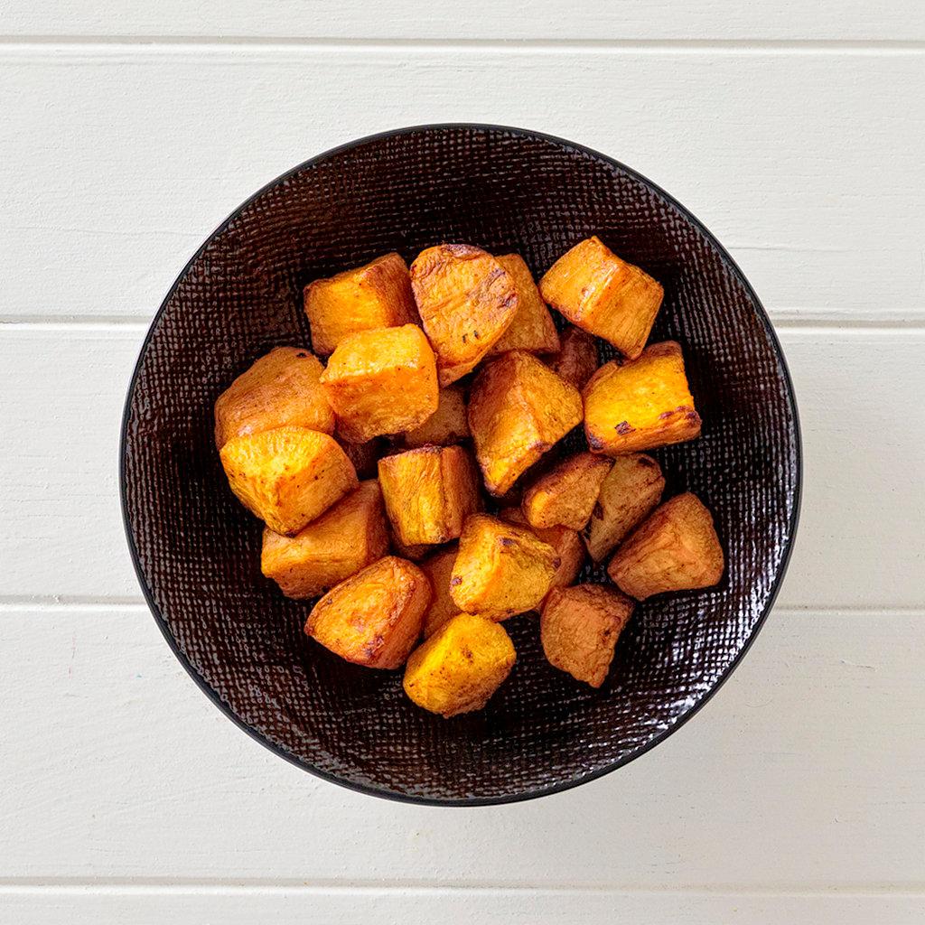 Roast Sweet Potato Side Portion High Angle