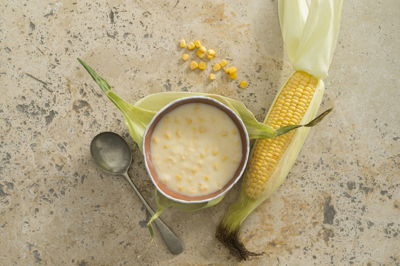 Sweet Corn Chowder High Angle