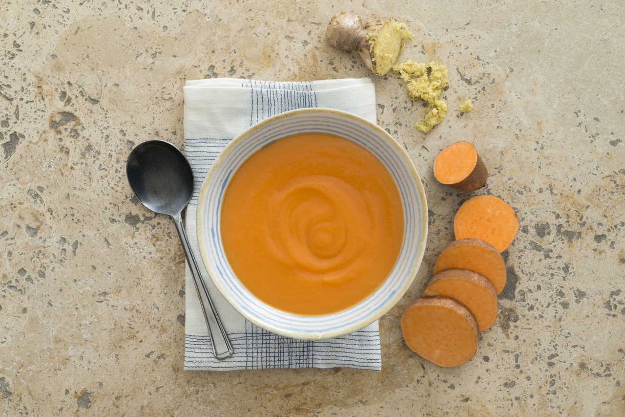 Sweet Potato And Ginger Soup High Angle