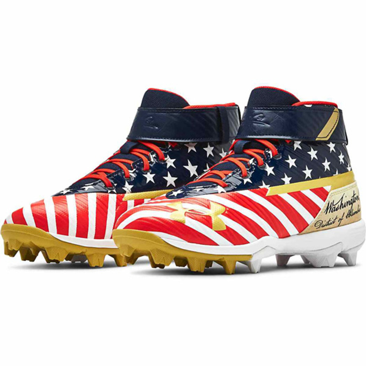 Under Armour Men/'s Bryce Harper One Mid ST Baseball Cleat Size 14