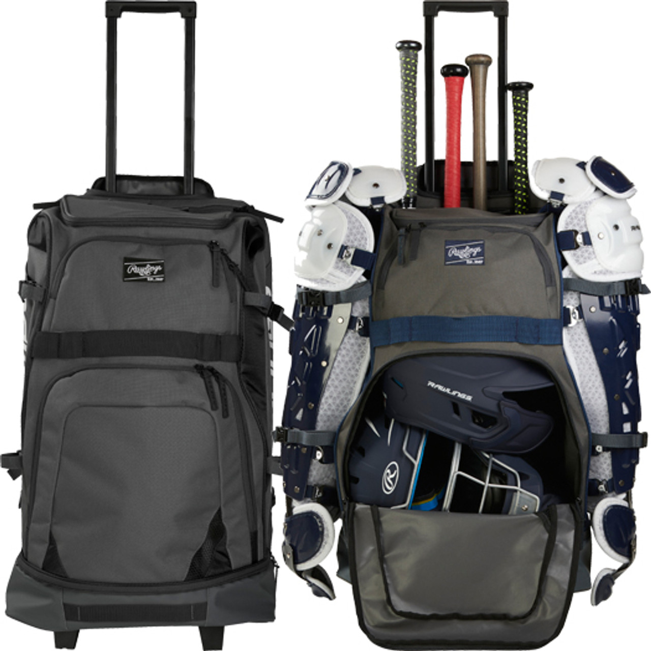 Rawlings Wheeled Catchers Backpack Baseball Softball Catchers Equipment Bag R1801
