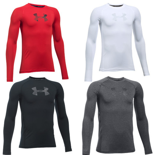 buy online wholesale online huge selection of Under Armour HeatGear Armour Fitted Boys' Long Sleeve Shirt ...
