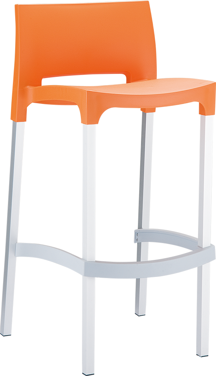 Gio Tall Stool Outdoor Hospitality Chairs Stackable 5 Colours