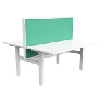 Nimble - Double Electric Height Adjustable Workstations - White Frame