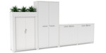Complete Office Storage Solutions - Lockable Tambours, Credenzas, Cupboards, Planter Boxes - Office Fitout