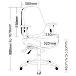 Rover Multi Shift Black Leather Office Chair