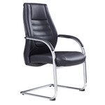 Boston PU Back Black Executive Seating Chair Sled Base